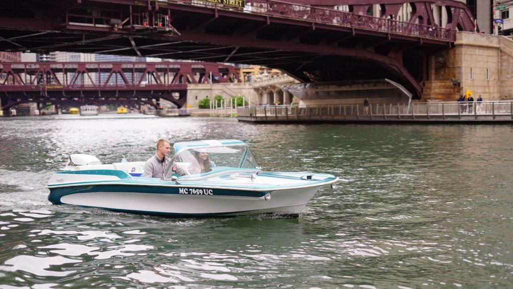 Flo Turquoise Boat Chicago Retro Boats Chicago Boat
